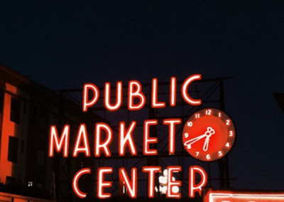 The historic Pike Place Market in Seattle, WA.